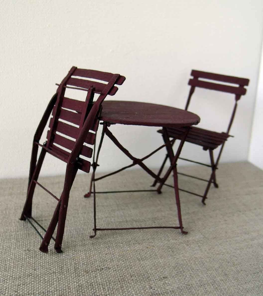 mesa y sillas | Miniature Furniture Tutorials | Pinterest ...