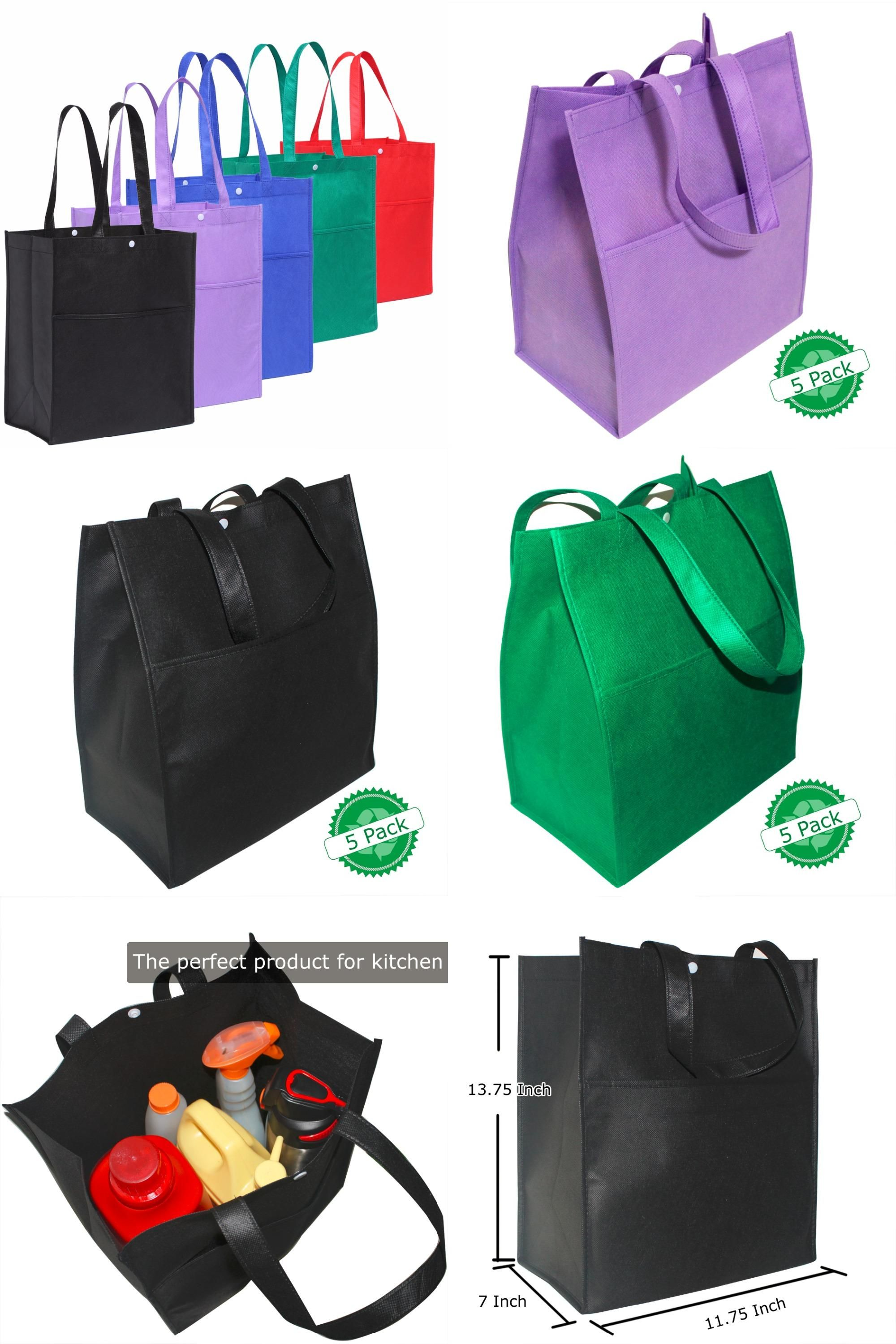 b991d124b70  Visit to Buy  5pcs lot Bag Wholesale Eco Shopping Bag Reusable Cloth Fabric