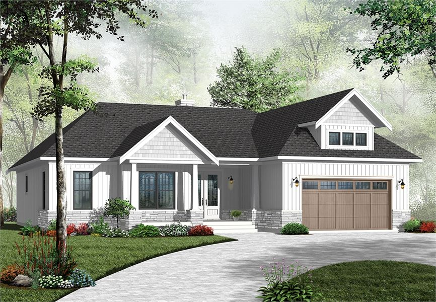 Cape Cod House Plan with 3 Bedrooms and 2 5 Baths Plan 4957