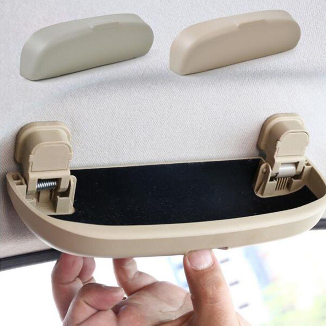 2016 pratique accessoires de voiture bo te de rangement autos pi ces de lunettes de soleil. Black Bedroom Furniture Sets. Home Design Ideas