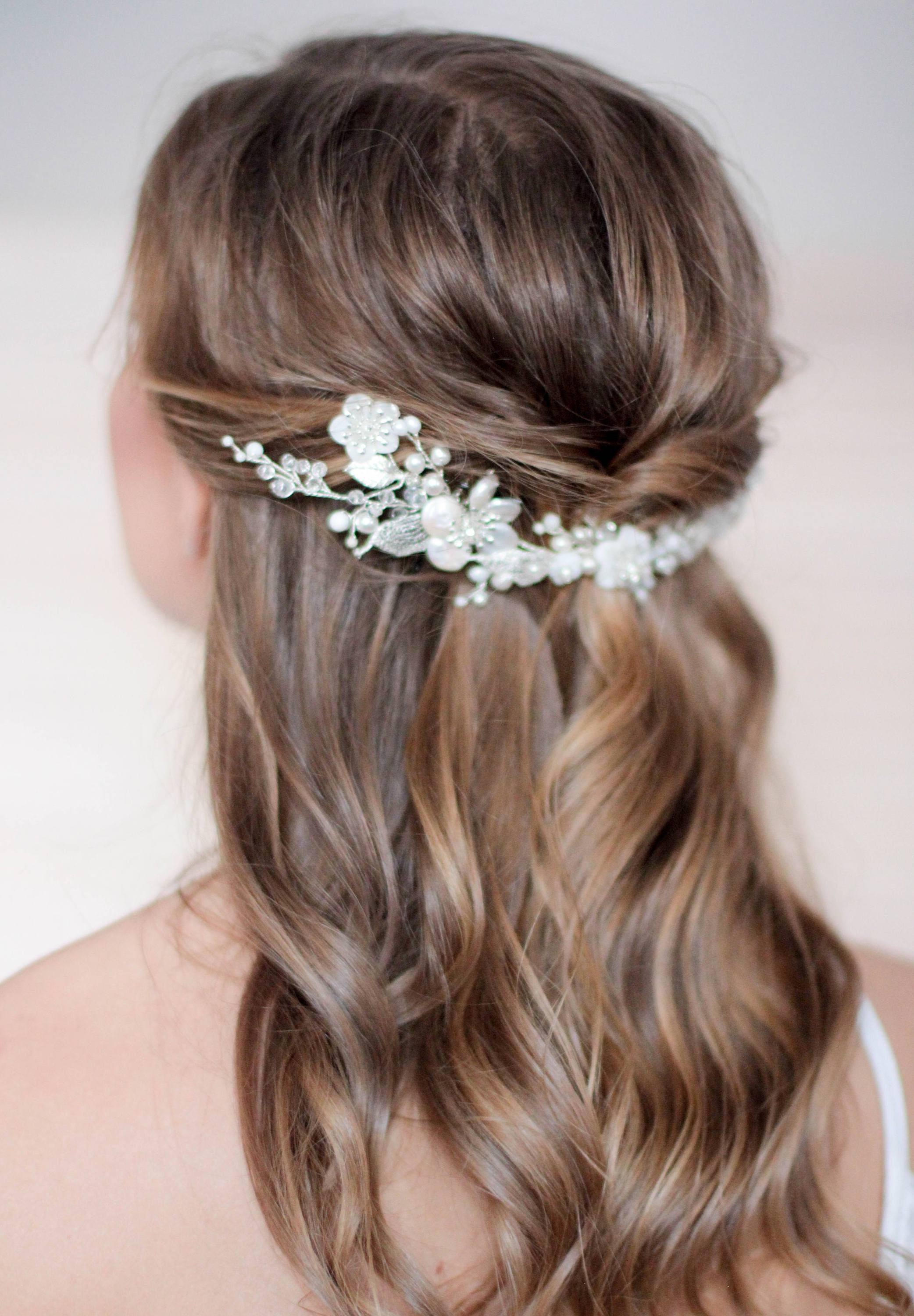 Natural Pearl Bridal Hair Piece With