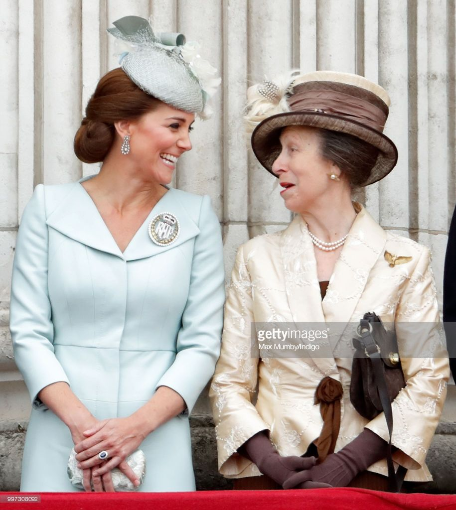 Catherine, Duchess of Cambridge and Princess Anne, Princess Royal ...