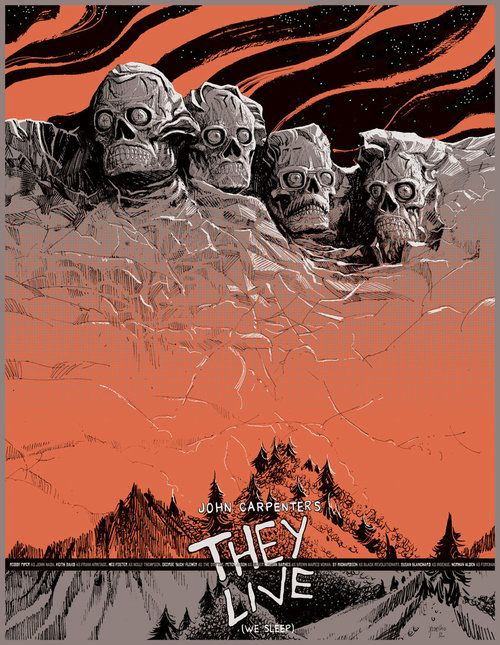 """This is definitely one of the best """"They Live"""" fan art, this piece comes from Jorge Coelho."""