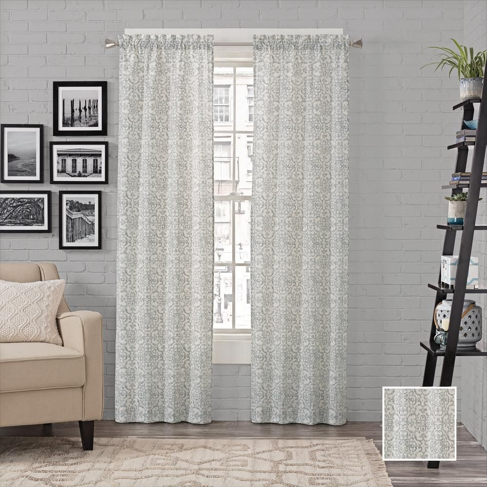 Pairs To Go Brockwell Window Curtain Panels In Spa 56 In W X 63