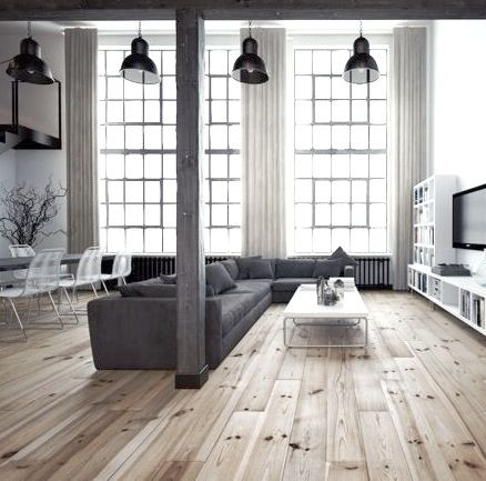 Minimalist Loft Living Space