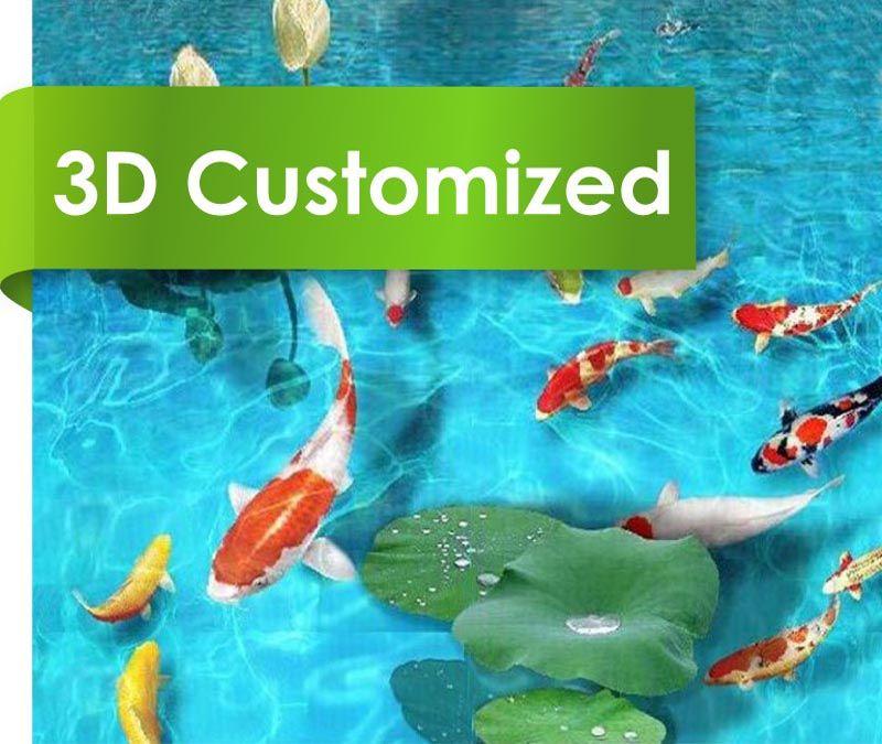 Customized 3D PVC Sheet Flooring With Design
