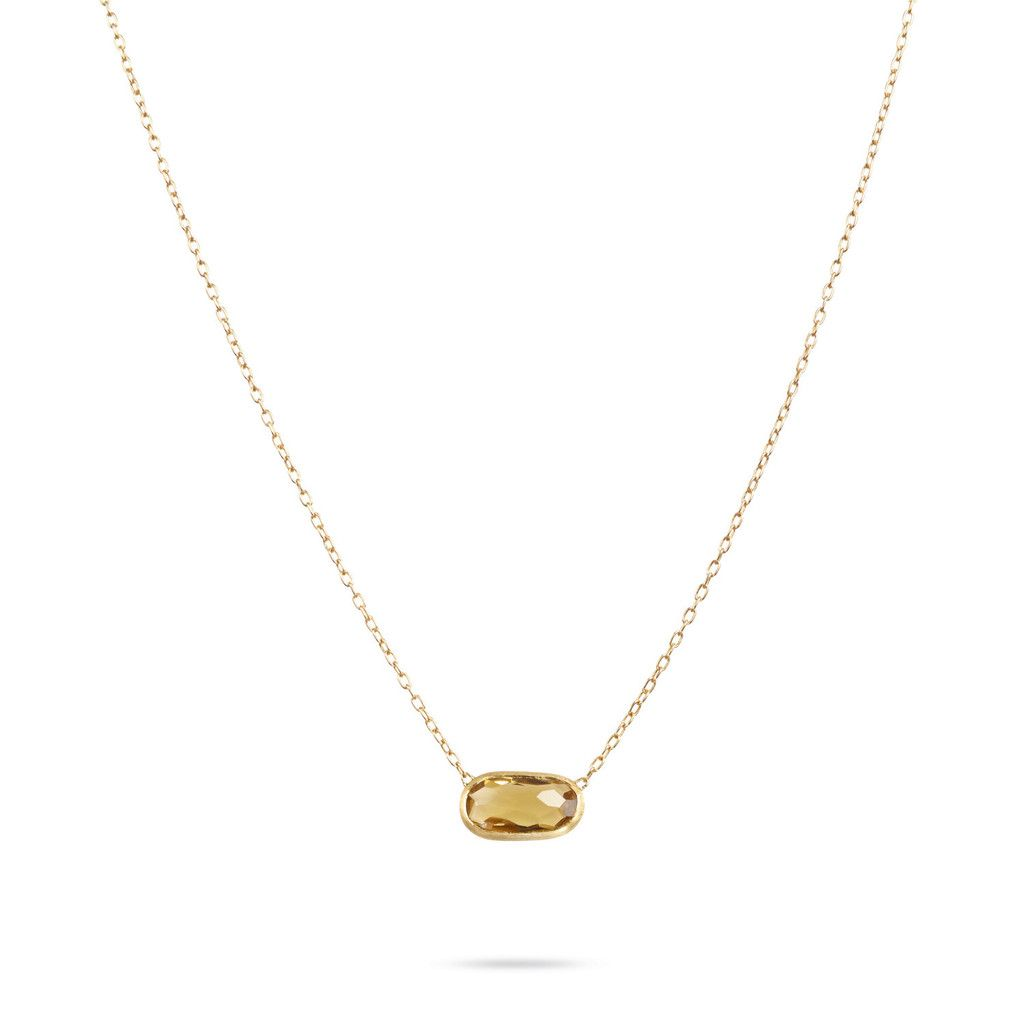 "Marco Bicego 18K yellow gold pendant with irregular faceted citrine. Representing a tribute to the joy of travelling and the inspiration for Marco's most iconic collections, this Delicati Multicolor Gemstone Necklace is hand engraved by Italian artisans. Pendant size: 0.35 x 0.59"". https://www.facebook.com/DiamondDreamFineJewelers  https://twitter.com/Diamond_Dream_  https://plus.google.com/+DiamondDreamFineJewelersBernardsville  https://www.instagram.com/diamonddreamjewelers"
