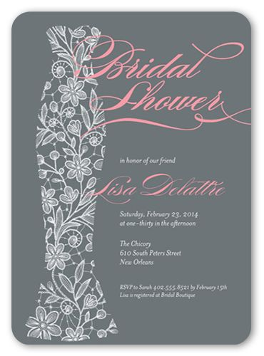 Floral Gown 5x7 Invitation | Bridal Shower Invitations