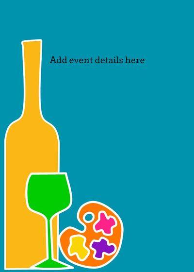 Fun+Art+Wine+Invitation