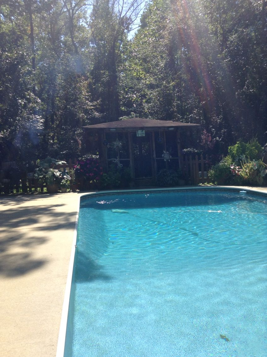 Clover South Carolina, pool in the woods.