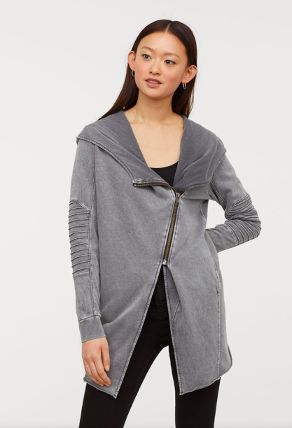 5da545a76d2  14.99 (70% OFF) - Hooded Sweatshirt Cardigan