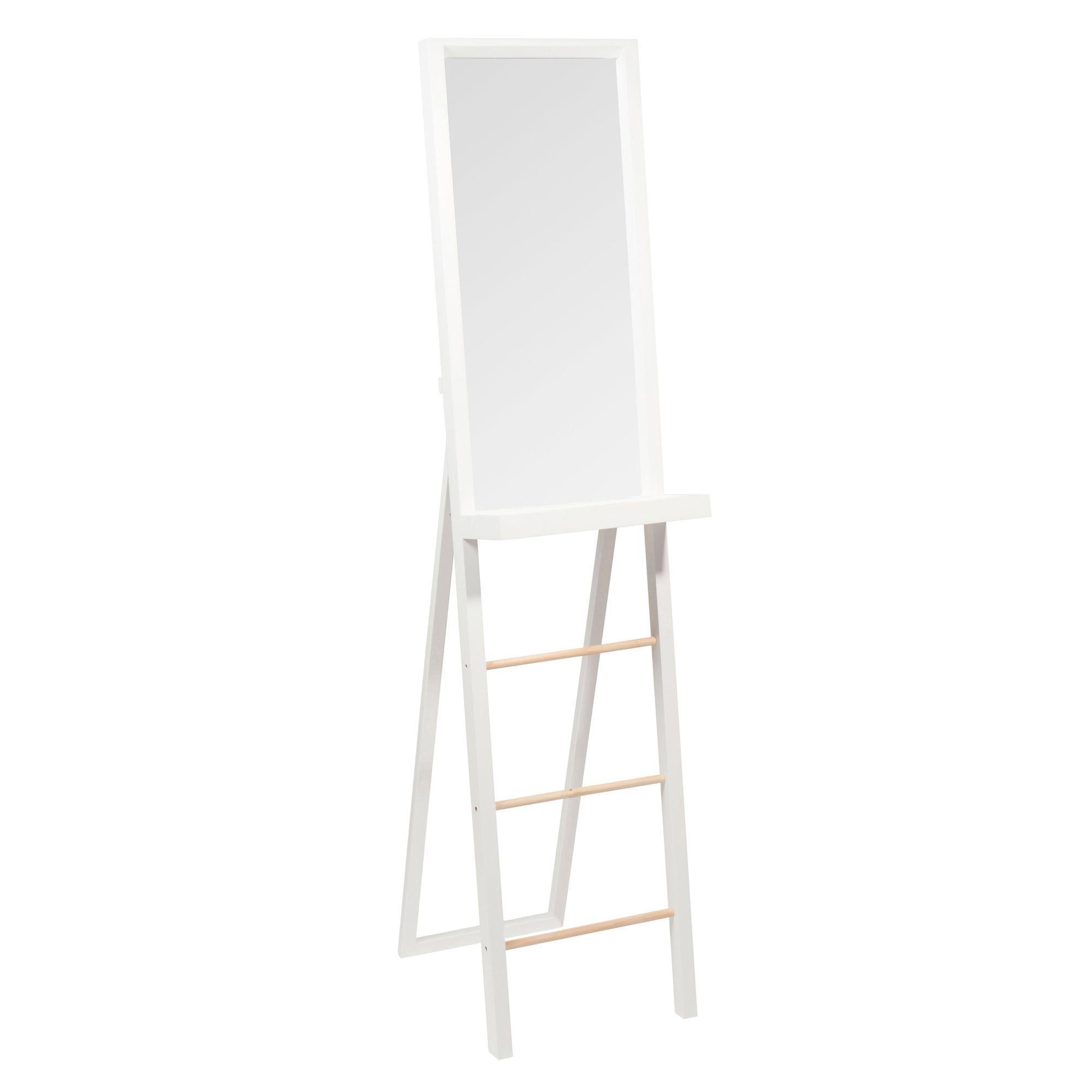 Miroir psyché en bois blanc H 160 cm WHITE
