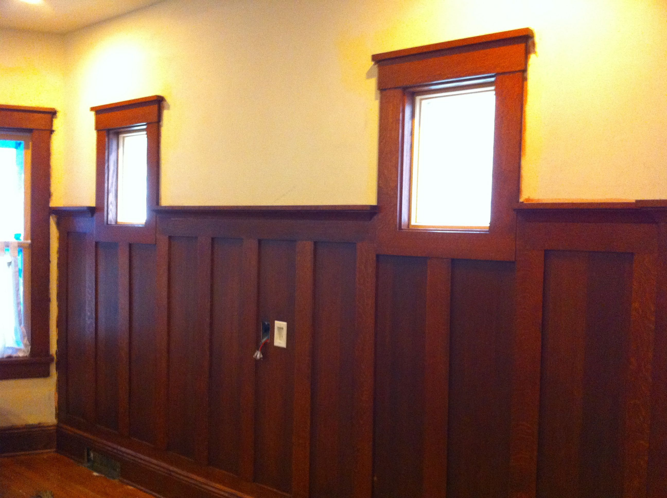 Wainscot solutions inc custom assembled wainscoting - Wainscoting Love The Height And The Wood Not Doable In Our House But Beautiful