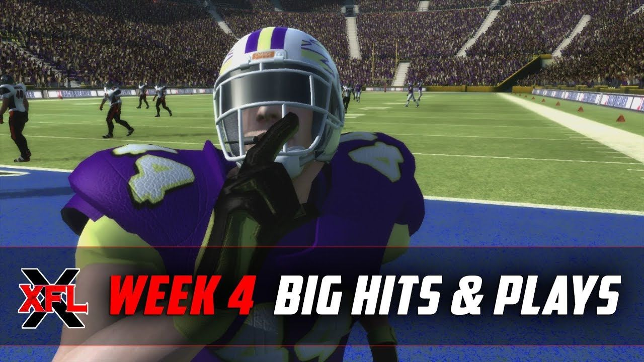 The Biggest Hits And Plays Of Week 4 Forrestgump Backbreaker Xfl Gaming Madden Xfl Football The Big Hit Hit