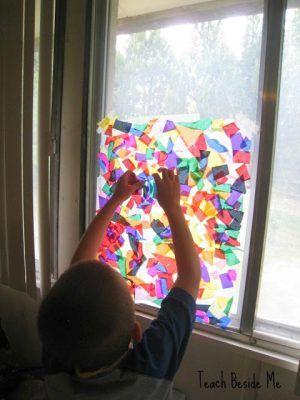 Rainbow Stained Glass Window Craft