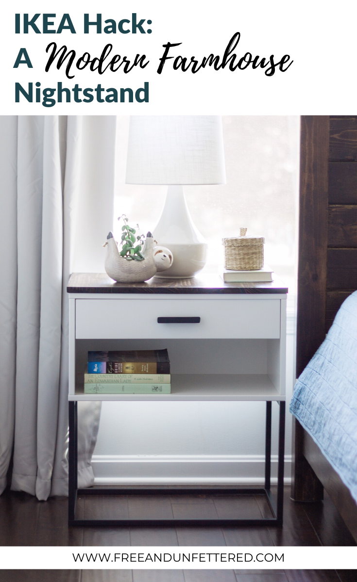 IKEA Hack: A VIKHAMMER Nightstand Makeover  Nightstand makeover