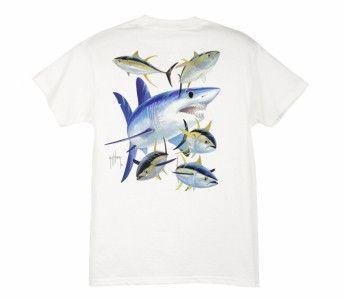 Guy Harvey Mako Shark Youth T-Shirt  ac15b3056b3e