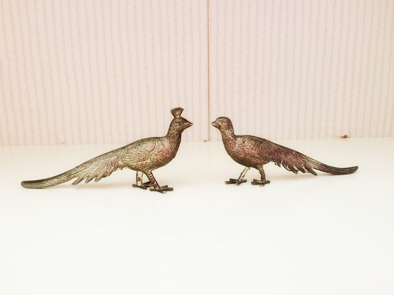 Menu Holder Silver Plated Menu Holder Pair Of Pheasants