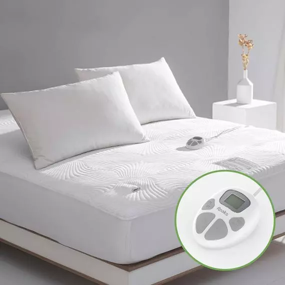 Reaks Full Size Heated Mattress Pad Cover 10 Heat Settings Heated Mattress Pad Mattress Mattress Pad Cover