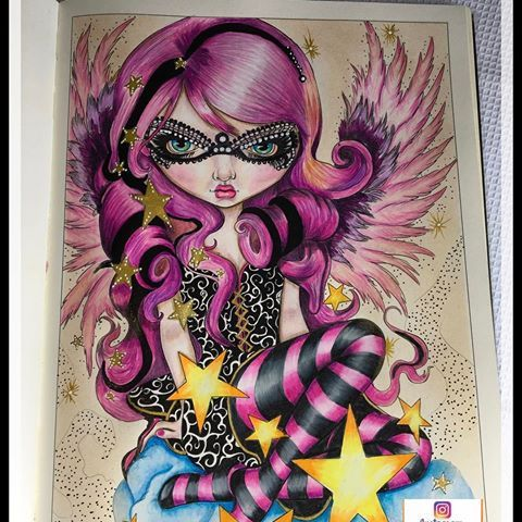 Angel Of Starlight Coloring Book Jasmine Becket Griffith