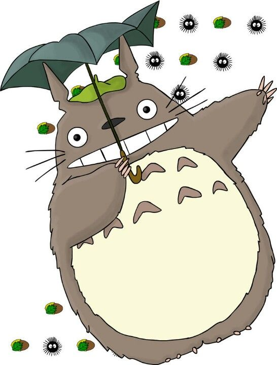 Totoro the spirit of optimism and childlike innocence if you are ever feeling distress no matter how little or much you feel totoro will be there in