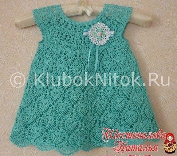 детское платье с ананасами вязание для девочек вязание спицами и