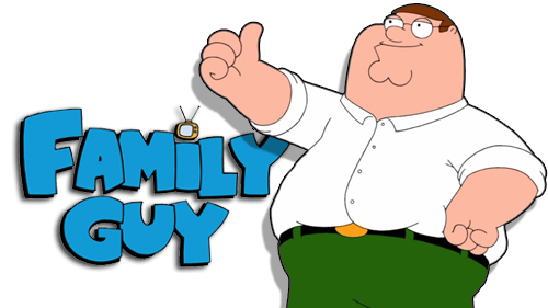 Peter Griffin Gives Himself A Thumbs Up For The Family Guy Logo Family Guy Peter Griffin Family
