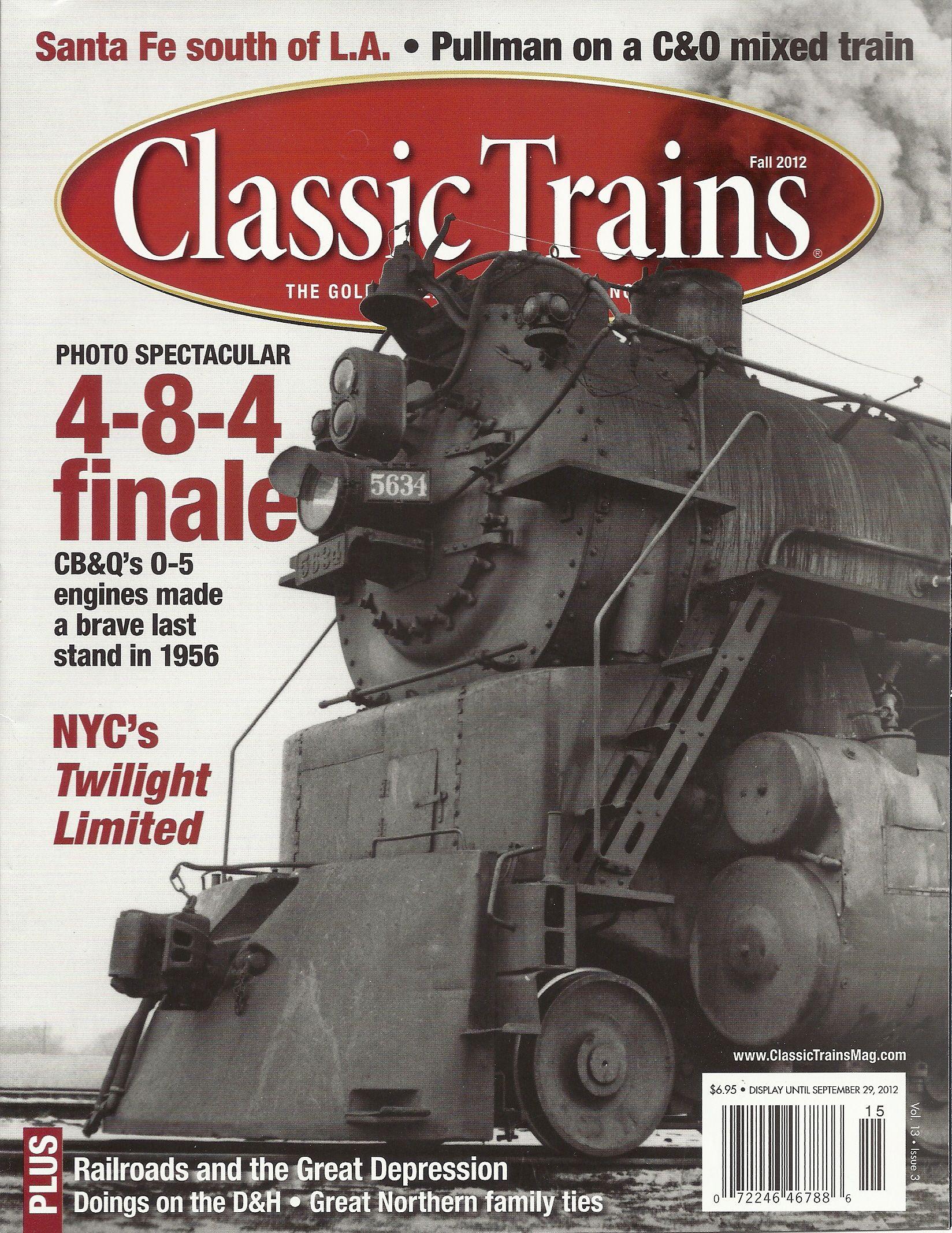 Classic Trains, Fall 2012