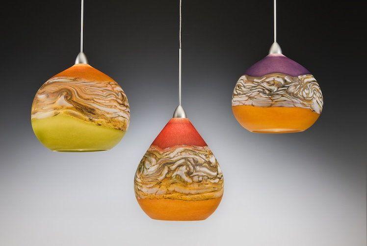 Strata Pendant Lights Danielle Blade Stephen Gartner Art Gl Lamp Artful Home