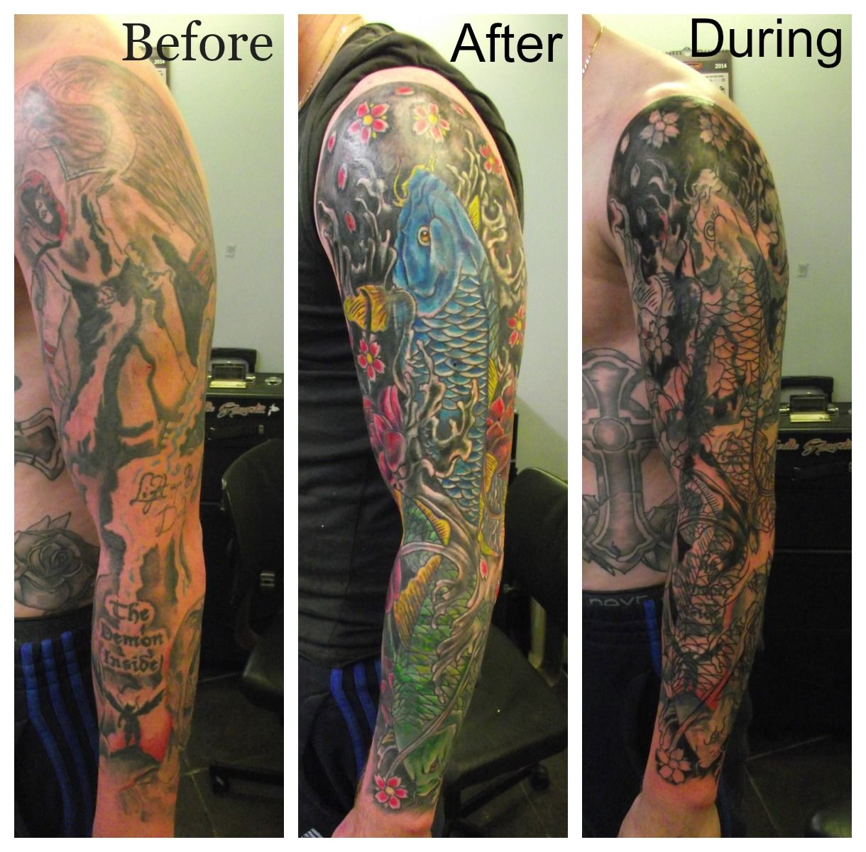 Full Sleeve cover up By Paul Butler Tattoo sleeve cover