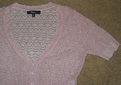 Express sz small pink sparkly shrug ~ starts at $2.50