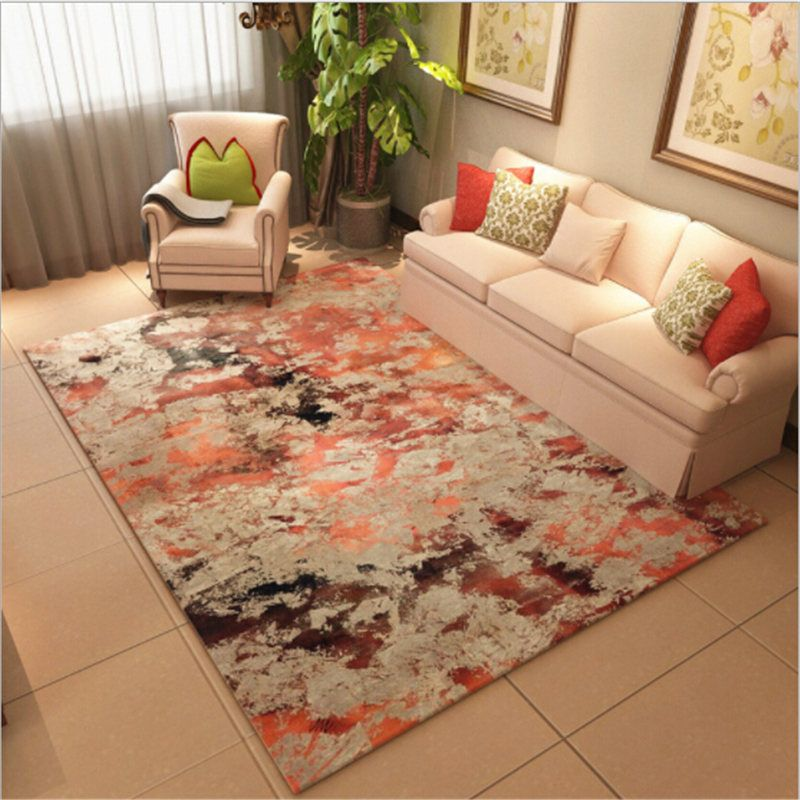 Abstract Style Polyester Large Soft Carpets For Living