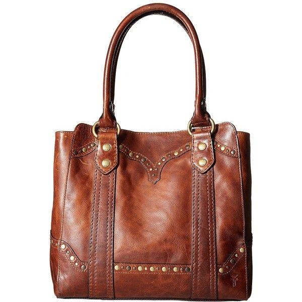 Frye Melissa Tote (Cognac Antique Pull Up) Tote Handbags MbicPT7T
