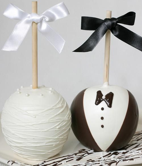 Inexpensive Wedding Gifts For Bride And Groom: Bride And Groom Caramel Apple Gift In 2019