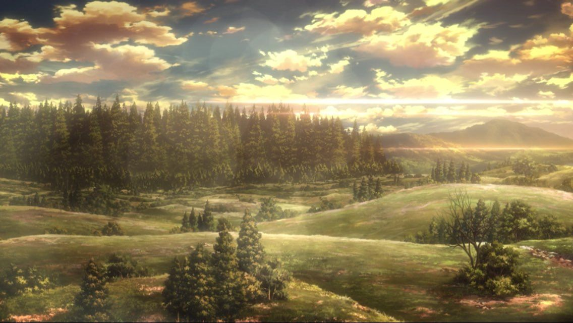 Attack On Titan Landscape Google Search Pejzazhi Anime Pejzazhi Atake Titanov