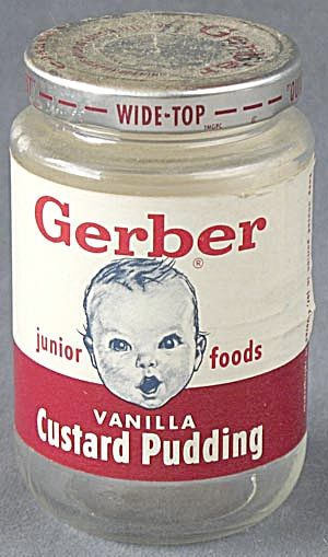 Vintage Gerber Baby Food Jar Baby Memories Childhood
