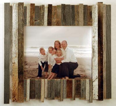 barnwood frames rustic reclaimed wood picture frames custom sizes - Distressed Wood Frames