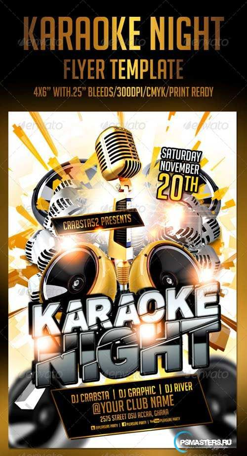Graphicriver Karaoke Night Flyer Template  Diseo