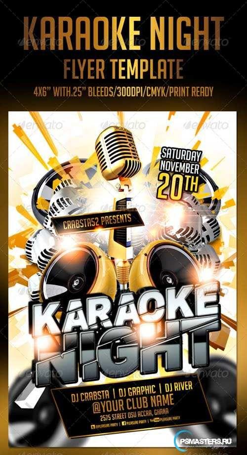 Graphicriver Karaoke Night Flyer Template  Diseo