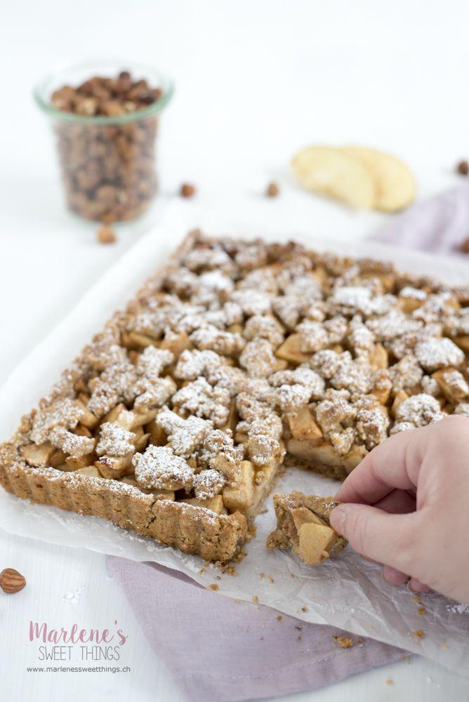 Apfel Haselnuss Streusel Tarte - Marlenes sweet things