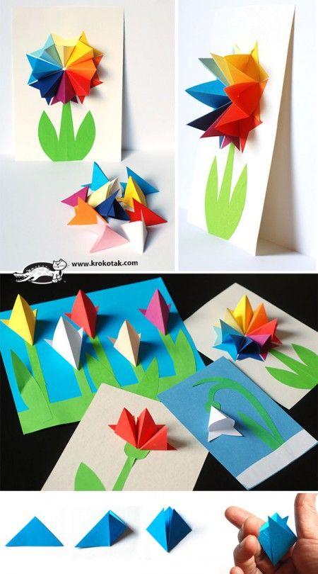 Paper Flowers Krokotak Npady Pinterest Flowers Origami And