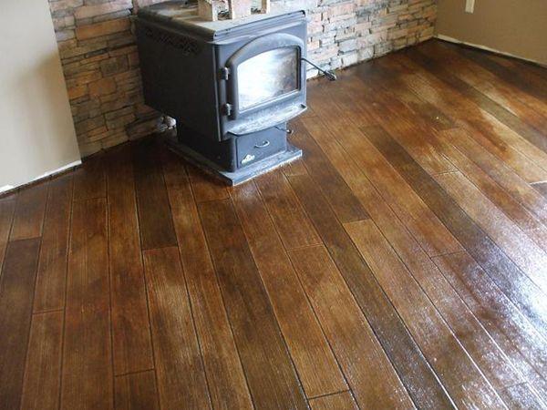 Stamped Concrete Looks Like Hardwoods Best Flooring For