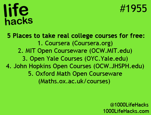 College courses online free