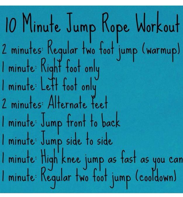 10 Min Jump Rope Workout Jump Rope Workout Jump Rope Health