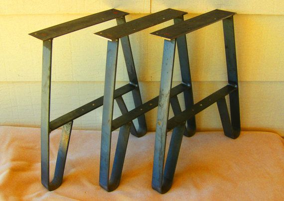 3 Metal Twin Legs For Long Benches Group Seating By Rusticliving Long Bench Furniture Legs Metal Furniture Legs