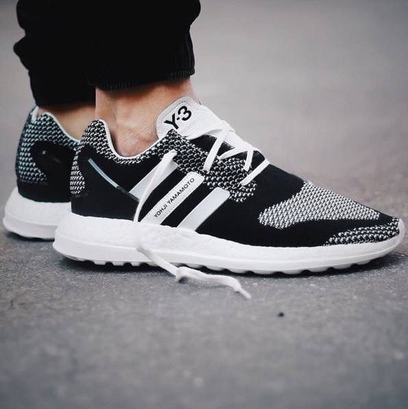 Adidas Y-3 Pure Primeknit Boost ZG Kint Colourful Black/White AQ5735 Free Shipping
