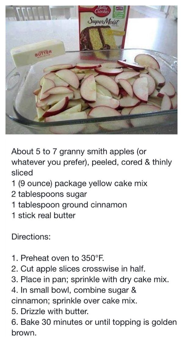 Easy apple cobbler recipe with cake mix
