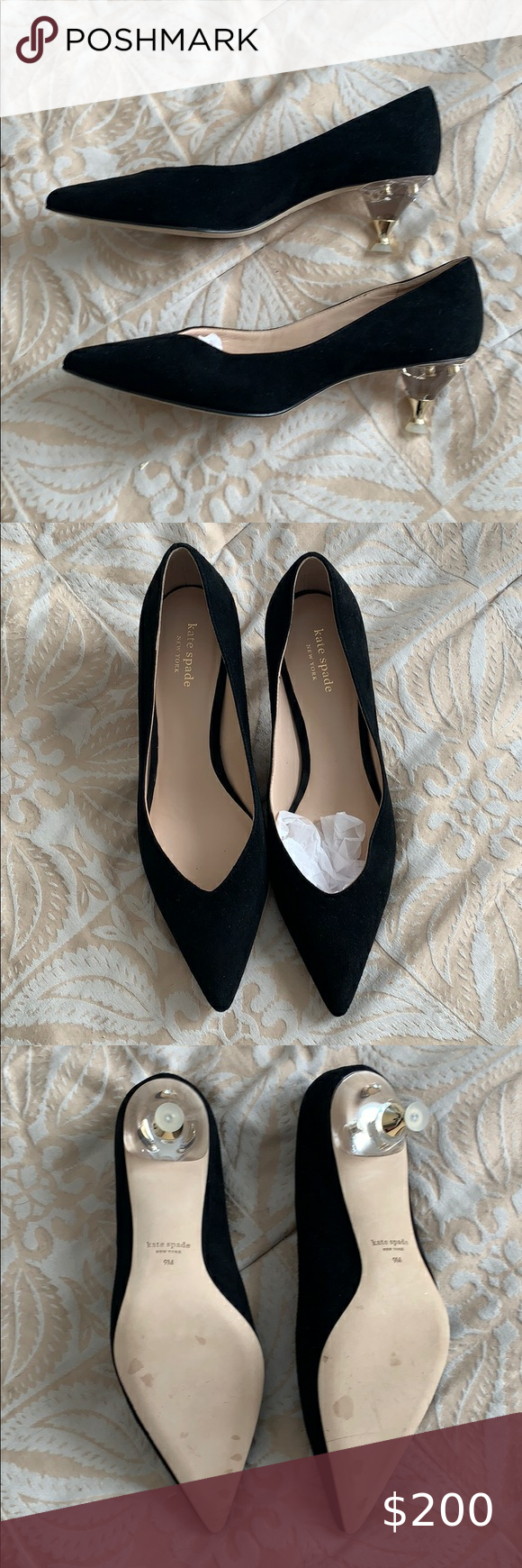 Sale Kate Spade Kitten Pumps Perfect Fall Heel In 2020 Work Heels Shoes Women Heels Kate Spade
