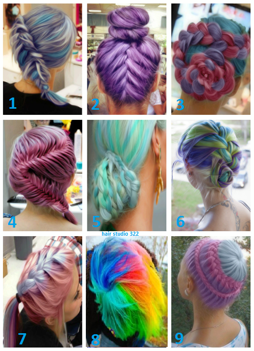 All kinds of braided hairstyles in rainbow colors | Rainbow ...