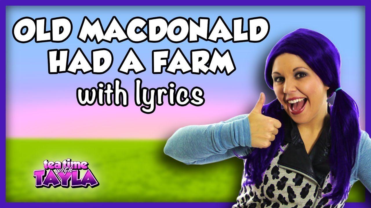 Old MacDonald Had a Farm Nursery Rhyme Lyrics | Kids Songs and Nursery R...